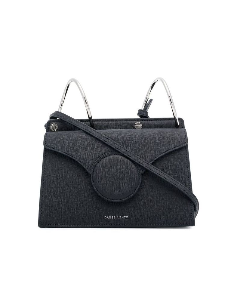 Danse Lente black phoebe mini leather shoulder bag - Blue