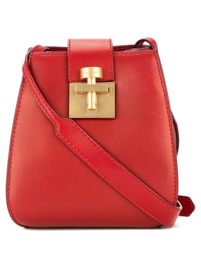 Oscar de la Renta Houston bucket bag - Red