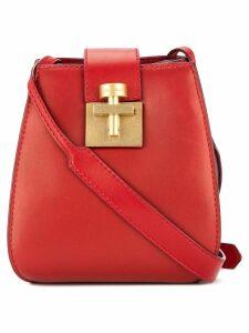 Oscar de la Renta Houston bucket bag - Red