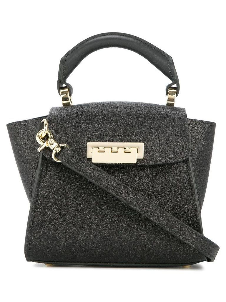 Zac Zac Posen Eartha Iconic mini glitter top handle bag - Black