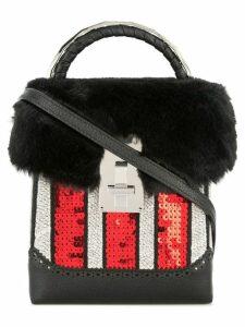 The Volon sequin box bag - Black