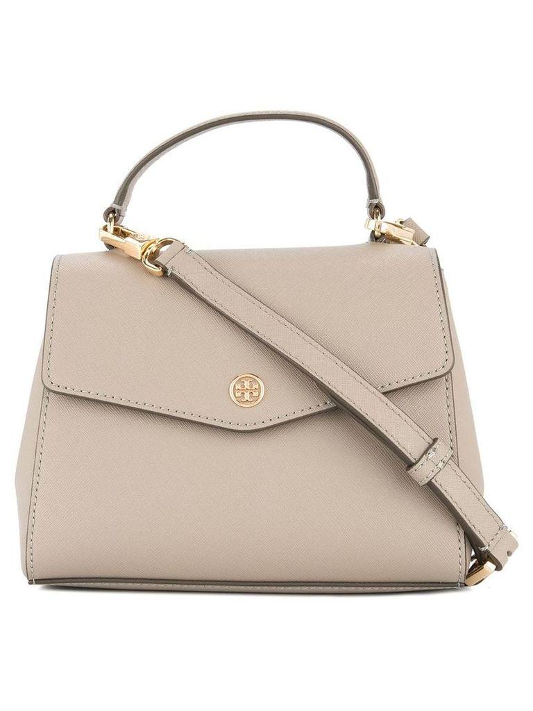 Tory Burch Robinson small top-handle satchel - Brown