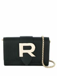 Rochas R plaque crossbody bag - Black
