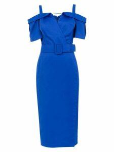 Tufi Duek belted midi dress - Blue