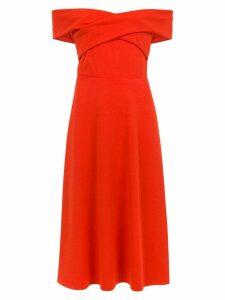 Tufi Duek midi off the shoulder dress - Red