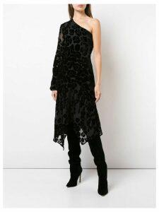 Josie Natori Burnout velvet dress - Black