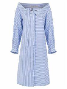Gloria Coelho striped shirt dress - Blue