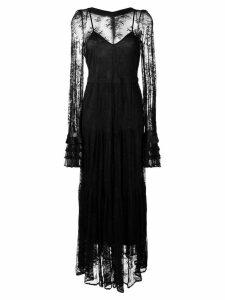 Black Coral long lace dress