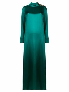 Layeur mock neck maxi dress - Green