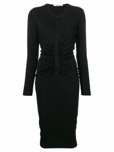 Roberto Cavalli fitted midi dress - Black
