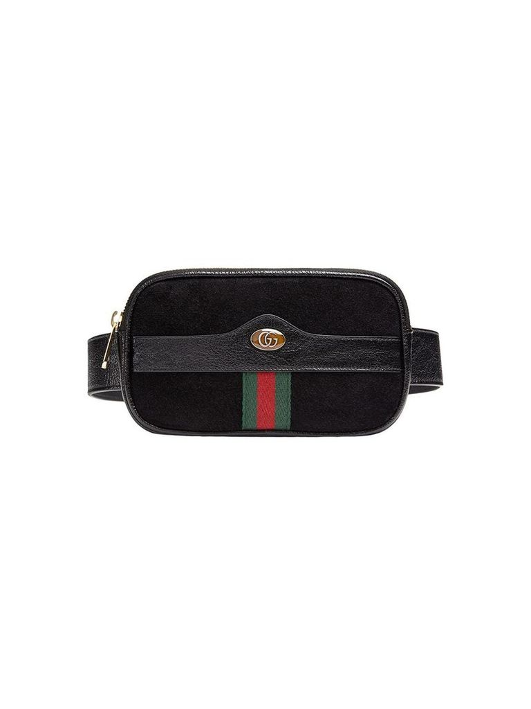 Gucci Ophidia web suede belt bag - Black
