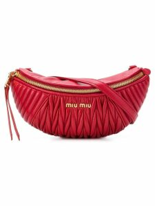 Miu Miu ribbed belt bag - Red
