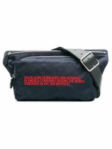 Calvin Klein 205W39nyc embroidered belt bag - Blue