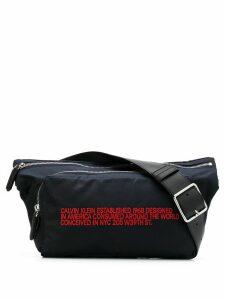 Calvin Klein 205W39nyc slogan embroidered belt bag - Blue