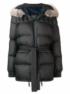 Mr & Mrs Italy hooded padded jacket - Black