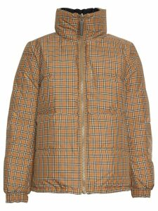 Burberry Vintage Check reversible puffer jacket - Yellow