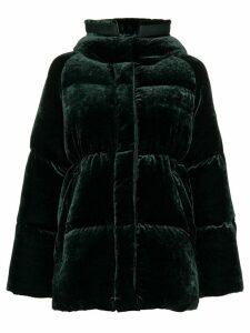 Moncler Butor Velvet Padded Coat - Green