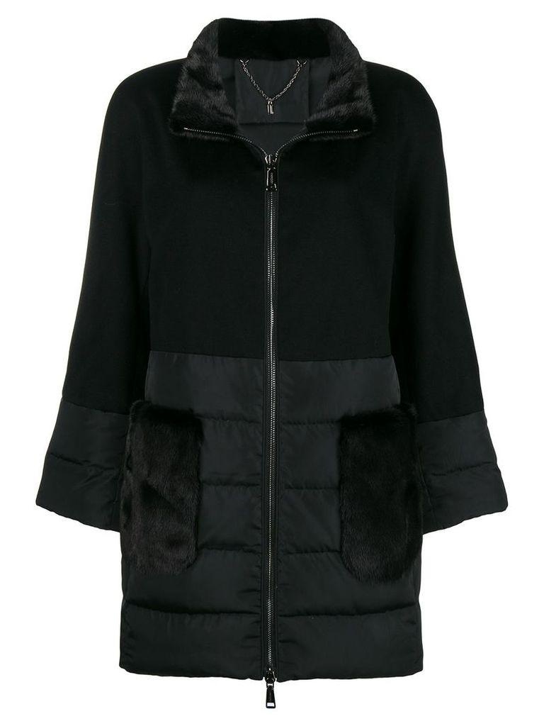 N.Peal mink fur puffer jacket - Black