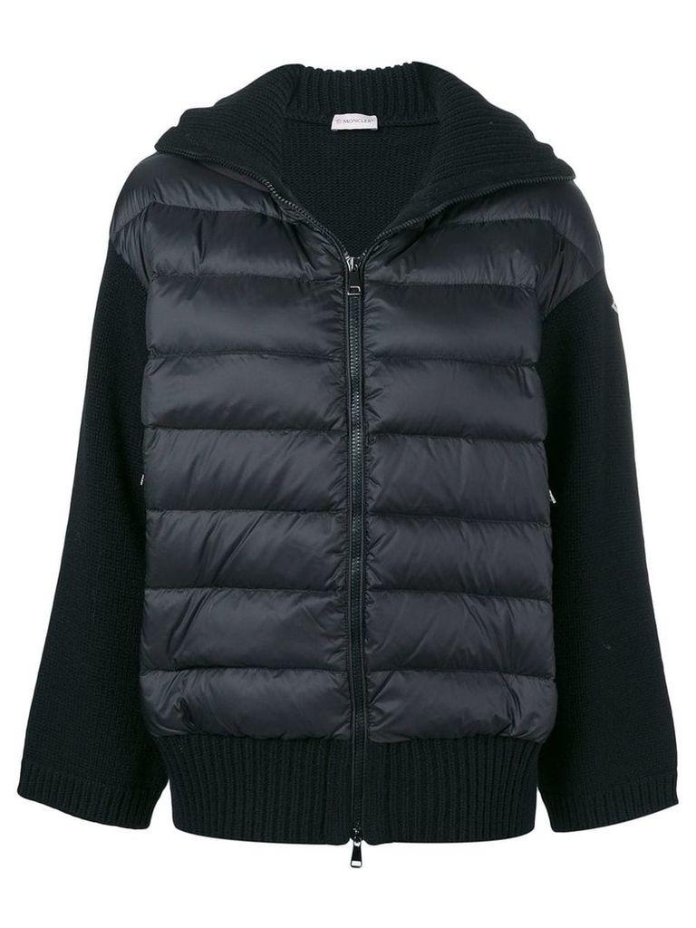 Moncler padded front knit jacket - Black