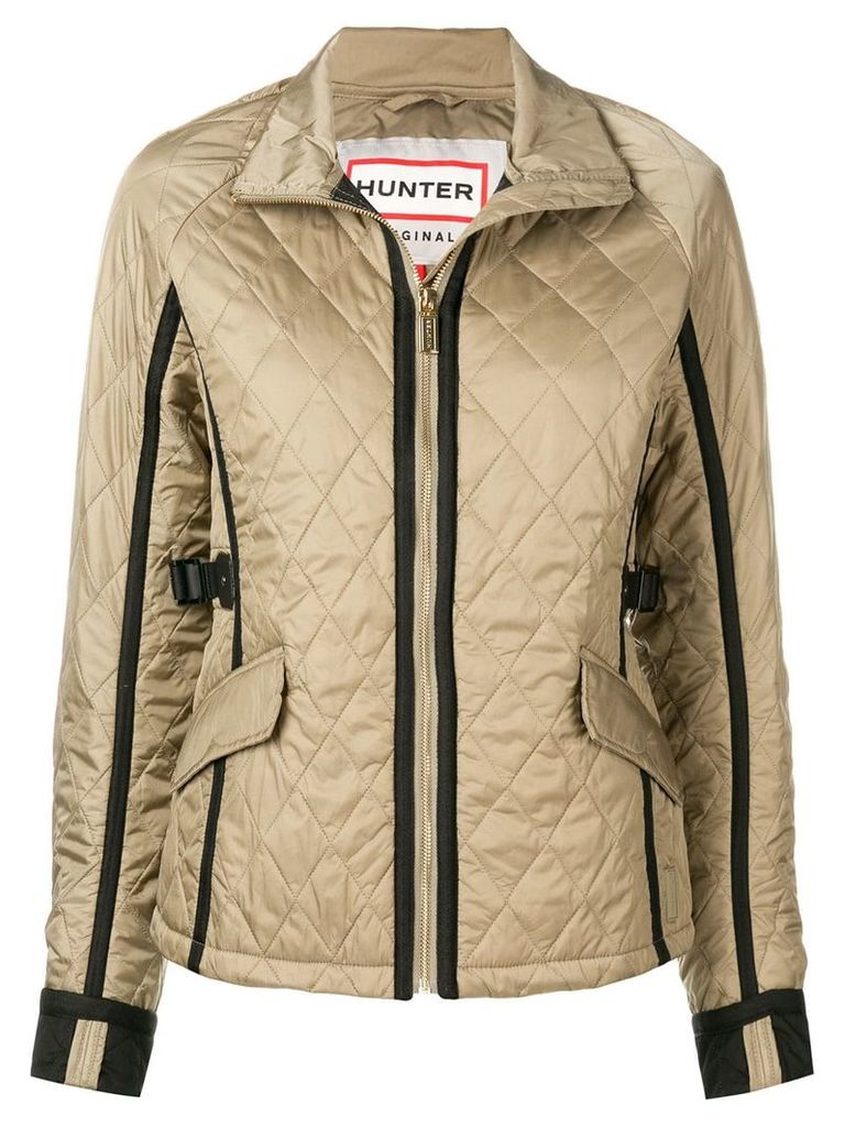 Hunter quilted zipped jacket - Neutrals