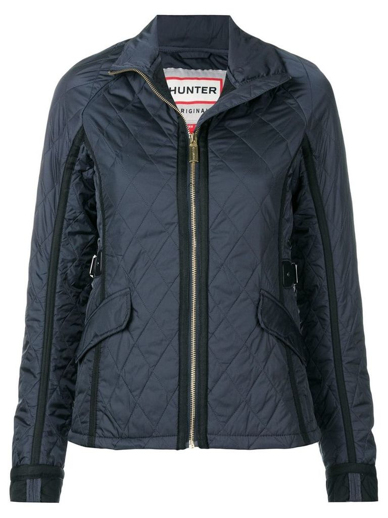 Hunter quilted zipped jacket - Blue