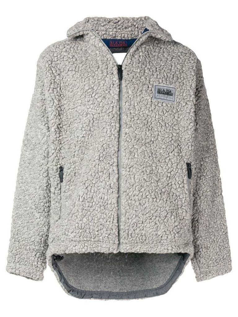 Napa By Martine Rose shearling zipped jacket - Grey