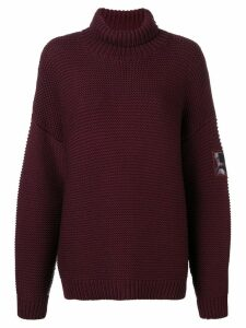 Courrèges drop shoulder roll-neck sweater - Red