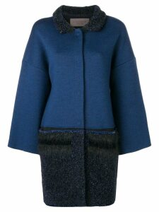 D.Exterior colour block coat - Blue