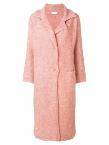 Chiara Bertani glitter effect coat - Pink