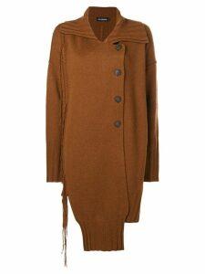 Ivan Grundahl asymmetric cardi-coat - Amber