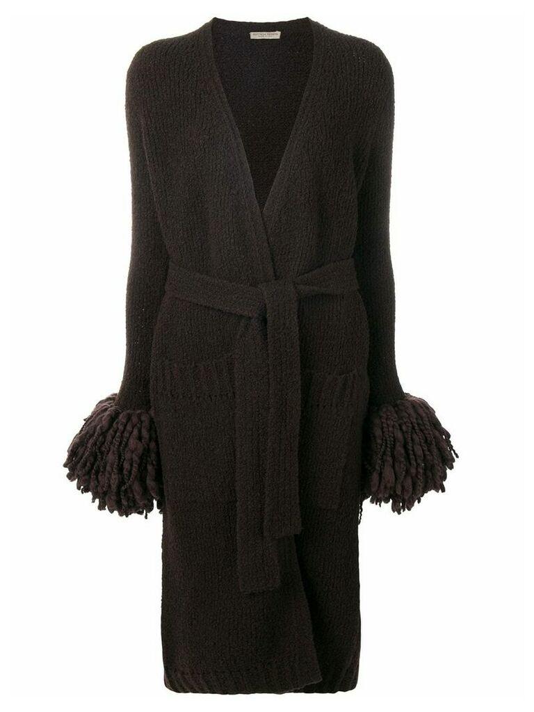 Bottega Veneta long knitted cardi-coat - Brown