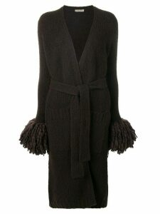 Bottega Veneta long knitted cardi-coat - Brown