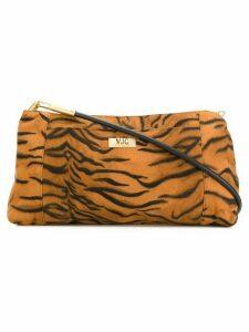 Versace Pre-Owned zebra pattern shoulder bag - Brown