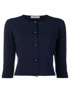 D.Exterior cropped cardigan - Blue