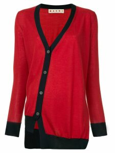 Marni cashmere off-centre fastening cardigan - Red