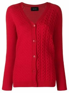 Simone Rocha chunky knit cardigan - Red