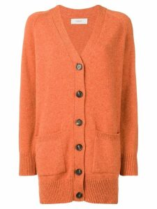 Pringle Of Scotland long buttoned cardigan - Orange
