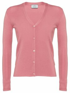 Prada Wool and Silk Cardigan - Pink