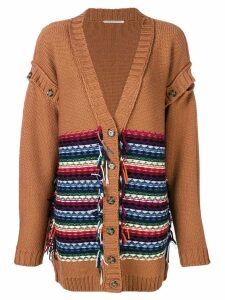 Marco De Vincenzo button sleeves cardigan - Orange