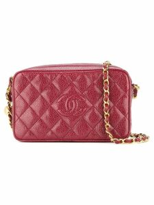 Chanel Pre-Owned Chanel quilted chain shoulder bag - Red