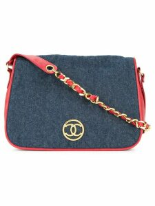 Chanel Pre-Owned quilted shoulder bag - Blue