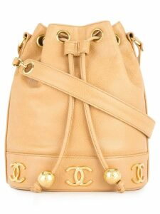 Chanel Pre-Owned drawstring chain shoulder bag - Brown