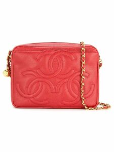 Chanel Pre-Owned Chanel triple CC chain shoulder bag - Red