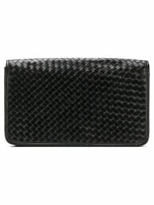 Katheleys Vintage 1970's interlaced clutch - Black