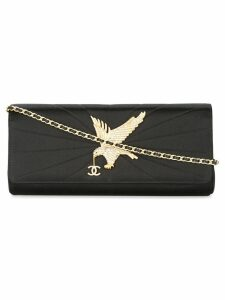 Chanel Pre-Owned eagle quilted CC chain clutch shoulder bag - Black