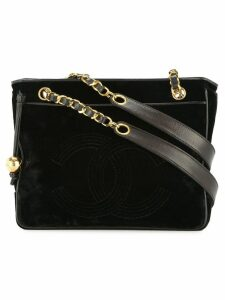 Chanel Pre-Owned chain shoulder tote bag - Black