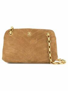 Chanel Pre-Owned V stitch chain shoulder bag - Brown