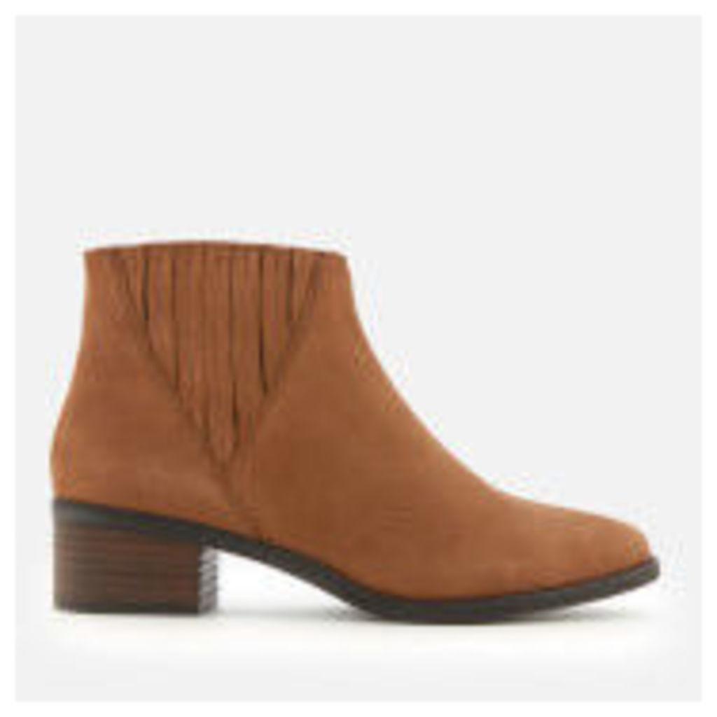 Steve Madden Women's Always Nubuck Western Ankle Boots - Camel