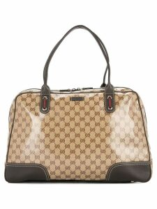 Gucci Pre-Owned GG Shelly Line travel hand bag - Brown