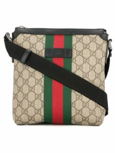 Gucci Pre-Owned GG Shelly Line cross body shoulder bag - Brown
